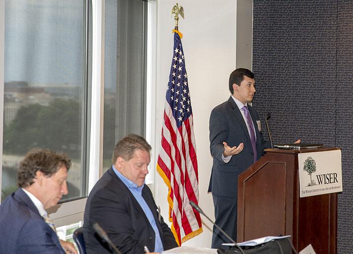 Evan Avila addresses the 2018 iOme Challenge Panel